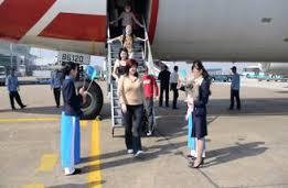 đón khách vip tại cửa máy bay